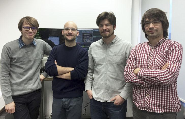 Java Script Developer Team w igus Polska: Od lewej: Michał Mrozek, Damian Hercuń, Jakub Mikiciuk, Mateusz Żeromski