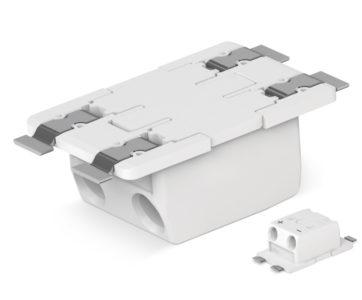 Podłączanie modułów LED na odwrocie płytki