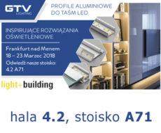GTV zaprasza na targi Light & Building