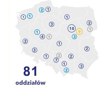 Mapa oddziałów hurtowni Grodno