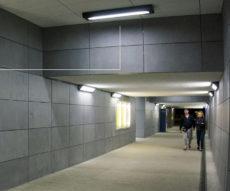 Tunel oświetlony oprawami wandaloodpornymi ATM Lighting