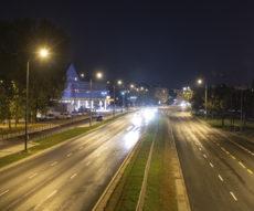 Oświetlenie ulicy Jagiellońskiej w Warszawie