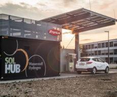 stacja ładowania samochodów wodorem