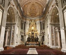 oświetlenie Bazyliki Świętego Piotra