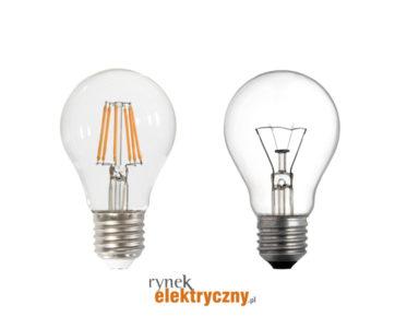 porówanie produkcji zarówek żarowych i LED