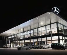 oświetlenie salonu Mercedesa Beghelli
