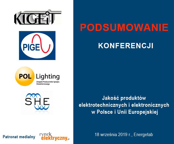 podsumowanie konferencji jakość elektrotechniki Energetab 2019
